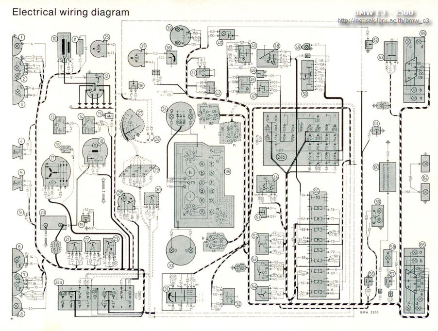 bmw e3 2500 handbook p_0087large bmw e3 2500 2500 automatic owner's handbook bmw e34 wiring diagram at mifinder.co